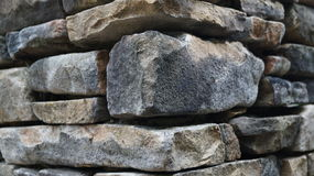 Stone Column Corner. Close up of the corner of a stacked stone column Royalty Free Stock Image