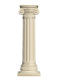 Stone column. Isolated on white background, 3d render Stock Photo