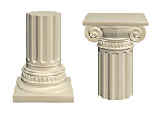 Stone column. Isolated on white background, 3d render Royalty Free Stock Photo