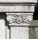 Stone white column capital  Stock Photography