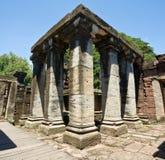 Stone column in Phimai stone castle Stock Image