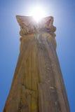 Stone column. Stone pillar from an roman archaeological site Stock Photos