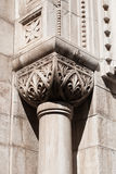 Stone column on the Sibenik cathedral. Sculpted stone column on Sibenik Cathedral, Croatia Royalty Free Stock Photo