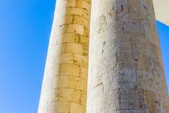 Stone columns blue sky Royalty Free Stock Photography