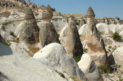 Stone columns in Cappadocia, Turkey Royalty Free Stock Image
