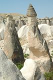 Stone columns in Cappadocia, Turkey Stock Photos