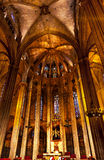 Stone Columns Catholic Barcelona Cathedral Catalonia Spain Royalty Free Stock Image