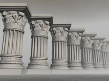 Stone columns - 3D render Royalty Free Stock Photography