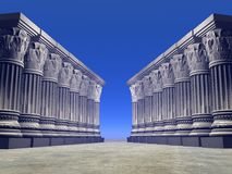 Stone columns - 3D render Stock Photo