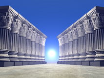Stone columns - 3D render Stock Photography
