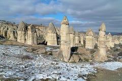 Stone columns in Gorcelid Valley in Cappadocia, Turkey Stock Image