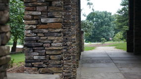 Stone Columns. Lining a path Royalty Free Stock Photos