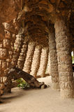 Stone Columns in Park Guell Stock Images