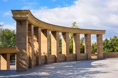 Stone columns in park Stock Photo