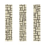 Stone columns or a piece of a brick wall. Vector illustration. Organic Rounded Jumble Shapes. Abstract Geometric beige Pattern vector illustration