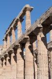 Stone columns ruins, Paestum, Italy Stock Image