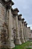 Stone Columns. A view of the ruins of Hadrians library in the city of Athens Stock Photography