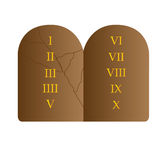 Stone with commandments. Isolated stone with the 10 commandments, Vector illustration Royalty Free Stock Images