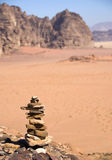 Stone composition on the desert Stock Photos