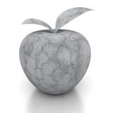 Stone concrete apple on white background. 3d render illustration Stock Photography