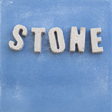STONE concrete letters Royalty Free Stock Image