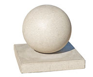 Stone concrete sphere Royalty Free Stock Photography