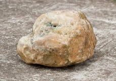 Stone on concrete walkway Royalty Free Stock Photos