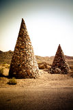 Stone cones in the nature reserve of Ras Mohamed Egypt. Toned Stock Photo