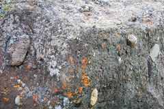 Stone conglomerate at Roddenes Nature Reserve, Lakselv, Norway, Europe. Stone conglomerate at Roddenes Nature Reserve, Lakselv, Norway, Scandinavia Europe Royalty Free Stock Photography