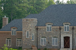 Stone Construction. Stone mansion under construction Royalty Free Stock Photos