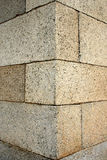 Stone corner. Stone background - corner of a ancient building of an old castle Stock Image