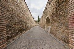Stone corridor Stock Photography