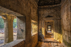 Stone Corridor Stock Photo