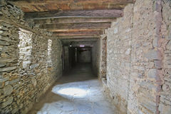 Stone corridor Royalty Free Stock Image