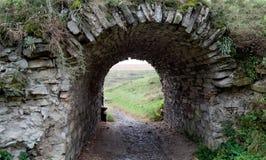 Stone corridor Stock Image
