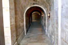 Stone corridor Stock Photos