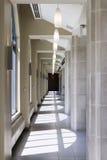 Stone corridor Royalty Free Stock Photos