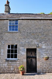 Stone Cottage. Front Door and Exterior of a Beautiful Stone Cottage Stock Photography