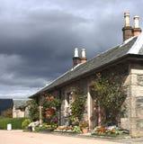 Stone cottage. Stone wall cottage, Lomond, Scotland Royalty Free Stock Photo