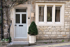 Stone Cottage. Exterior of a Beautiful Old English Stone Cottage Stock Photography