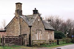 Stone cottage in countryside. Exterior of stone cottage in countryside, Cumbria, England Royalty Free Stock Image