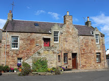 Stone cottage with stepped gables in Crail, Fife Royalty Free Stock Photos
