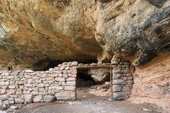 Stone cottage view. Stone cottage in Guara Mountains, Huesca Province, Aragon, Spain Stock Photos