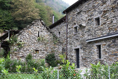Stone cottages, Ticino, Switzerland Royalty Free Stock Photos