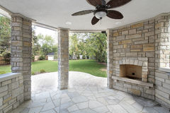 Stone covered patio Stock Photo