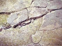 Stone. Cracked gray rock Stock Images