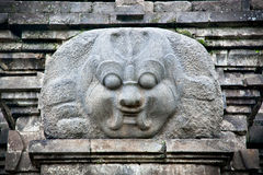 Stone craft in Candi  Singosari Temple near by Malang on Java, Royalty Free Stock Images