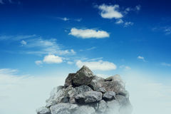 Stone crest over blue sky Stock Photography