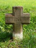 Stone cross. Landmark with year 1866 Royalty Free Stock Photos