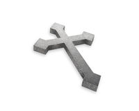Stone cross Royalty Free Stock Image